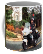Police - Motorcycle Cop On Patrol Coffee Mug