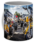 Police Motorcycle Lineup Coffee Mug