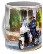 Police - Suburban Motorcycle Cop Coffee Mug