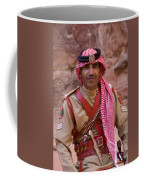 Policeman In Petra Jordan Coffee Mug by David Smith