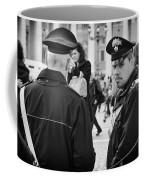 Policemen In Rome Coffee Mug