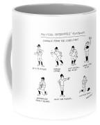 Political Candidates' Playbook Signals Coffee Mug by James Stevenson