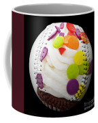 Polka Dot Cupcake Baseball Square Coffee Mug