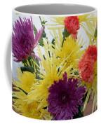 Polka Dot Mums And Carnations Coffee Mug