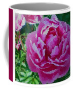 Polka Dot Pink Peony Coffee Mug