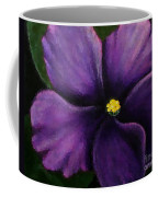 Polka Dot Purple African Violet Coffee Mug