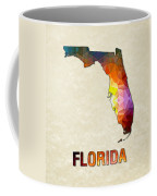 Polygon Mosaic Parchment Map Florida Coffee Mug