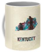 Polygon Mosaic Parchment Map Kentucky Coffee Mug
