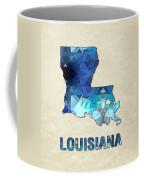Polygon Mosaic Parchment Map Louisiana Coffee Mug
