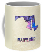 Polygon Mosaic Parchment Map Maryland Coffee Mug