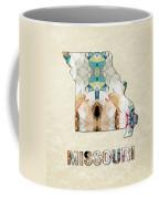 Polygon Mosaic Parchment Map Missouri Coffee Mug