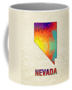 Polygon Mosaic Parchment Map Nevada Coffee Mug