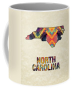 Polygon Mosaic Parchment Map North Carolina Coffee Mug