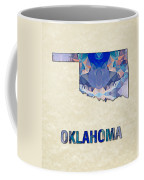 Polygon Mosaic Parchment Map Oklahoma Coffee Mug
