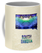 Polygon Mosaic Parchment Map South Dakota Coffee Mug