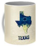 Polygon Mosaic Parchment Map Texas Coffee Mug