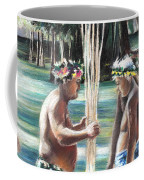 Polynesian Men With Spears Coffee Mug