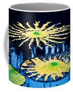 Pond Lily Pad Abstract Coffee Mug