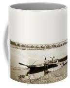 pont George V Bridge over Loire river Orleans Loire Valley France 1900 Coffee Mug