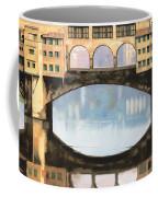 Ponte Vecchio A Firenze Coffee Mug by Guido Borelli