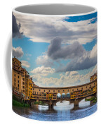 Ponte Vecchio Clouds Coffee Mug by Inge Johnsson