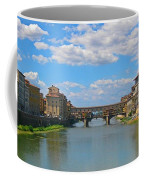 Ponte Vecchio Over The Arno River At Florence Italy Coffee Mug