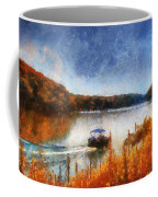 Pontoon Boat Photo Art 02 Coffee Mug