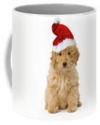 Poodle In Christmas Hat Coffee Mug