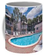 Pool And Cottages Coffee Mug