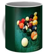 Pool Balls Coffee Mug by Carlos Caetano