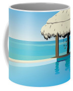 Pool On The Ocean Coffee Mug
