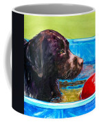 Pool Party Of One Coffee Mug by Molly Poole