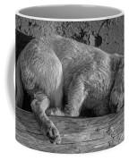 Pooped Puppy Bw Coffee Mug by Steve Harrington