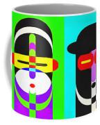 Pop Art People 4 Row Coffee Mug