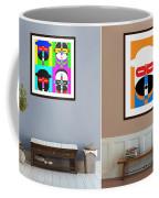 Pop Art People On The Wall Coffee Mug