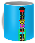 Pop Art People Totem 7 Coffee Mug