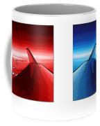 Red Blue Jet Pop Art Planes  Coffee Mug
