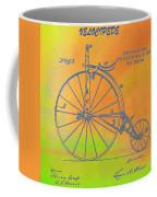 Pop Art Velocipede Patent Coffee Mug