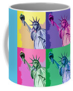 Pop Liberty Coffee Mug by Delphimages Photo Creations