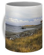 Popham Beach On The Maine Coast Coffee Mug