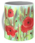 Poppies And Daisies Coffee Mug