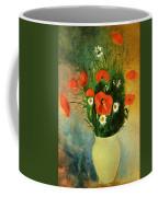 Poppies And Daisies Coffee Mug by Odilon Redon