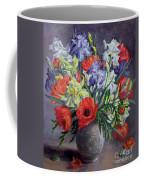 Poppies And Irises Coffee Mug