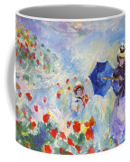 Poppies At Argenteuil Claude Monet Coffee Mug