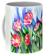 Poppies Field Square Quilt  Coffee Mug