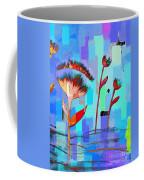 Poppies On Blue 3 Coffee Mug
