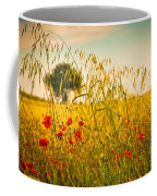 Poppies With Tree In The Distance Coffee Mug