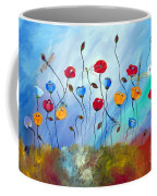 Poppy And Dragonfly Coffee Mug
