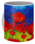 Poppy Corner II Coffee Mug by John  Nolan