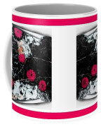 Poppy Jasper Stone Painting With Borders 7 Coffee Mug